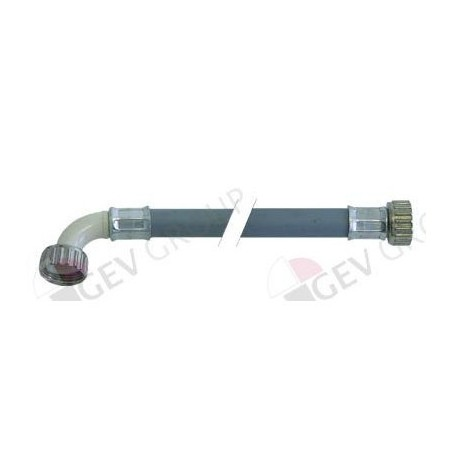 Tubo flexible de entrada pvc recto curvado dn13 empalmes 3 for Tubo de pvc flexible