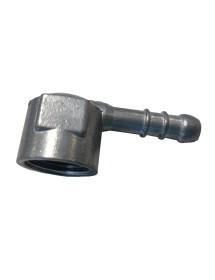 Racor codo 1/2 pulgada tubo entrada de gas