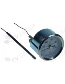 Thermometer mounting ø 52mm T max 250 ° C 0 to + 250 ° C probe ø 4mm probe L 74mm capillary 1330mm