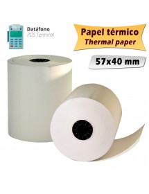 Thermal paper rolls 57x40 mm (10 units)