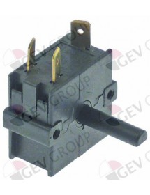Rotary switch 4 0-1-2-3 sets of contacts 2 type A040080 250V 16A shaft ø 6x4.6mm