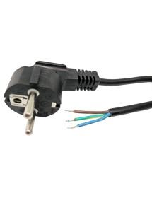 Cable de alimentación schuko 3x1,5mm PVC Negro