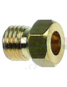 boquilla de gas rosca M6x0,75 EC 7 taladro ø 0,8mm Gas GLP