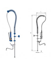 Basic shower tap with tap