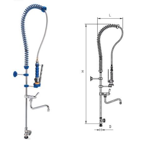 Grifo ducha sobremesa b sico con grifo y pomo 1 agua for Llave de agua para ducha
