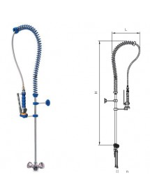 Basic desktop shower faucet with knob 2 waters