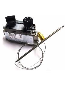 """termostato de gas MERTIK tipo GV30T-C5AYAAK0-002 T máx 190°C 110-190°C entrada gas abajo 3/8"""" 50mbar"""