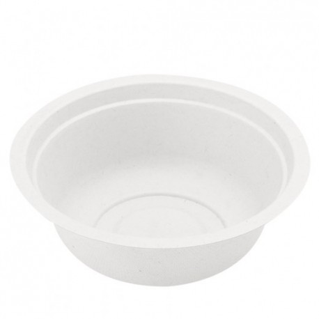 Biodegradable white bowl (50 pcs)