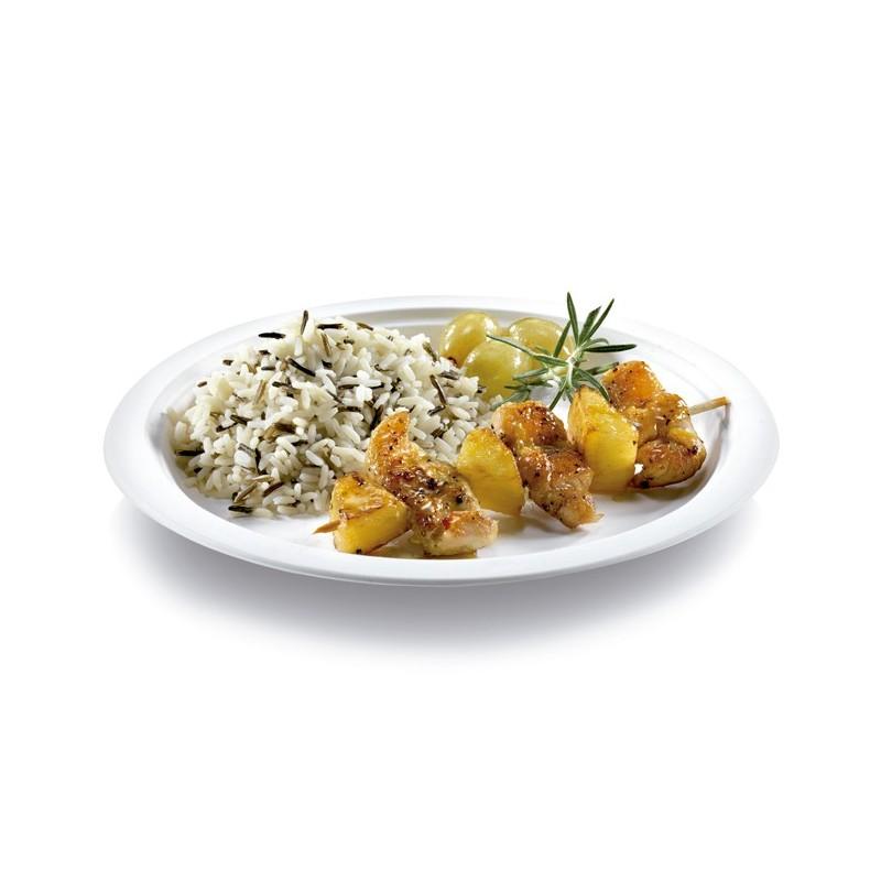 Plato blanco biodegradable 50 uds chef global for Plato blanco