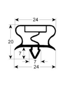 junta para frigorífico perfil 9013 An 380mm L 585mm medida inserción para CORECO FAGOR