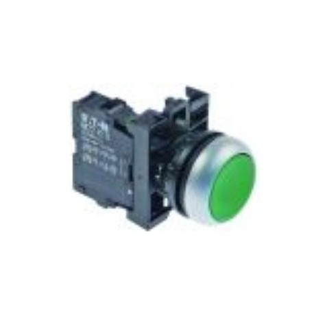 push switch mounting measurements ø22mm green 1NO latching Ozti M22DR-G 6232.00012.08