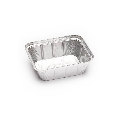 Rectangular aluminum container without lid (Pack of 100 units)
