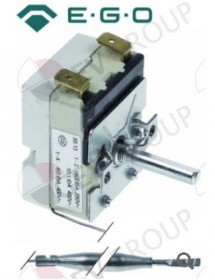 Thermostat t.max. 190°C temperature range 60-190°C 1-pole 1NO 16A probe ø 6mm probe L 77mm EGO 55.13032.400
