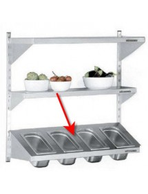 1 shelf in a sloping position