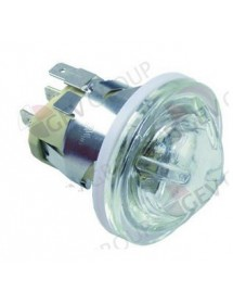 oven lamp mounting ø 35,5mm 230V 25W socket G9 temp.-resist. 300°C connection F6.3 ECO1-1 ECO1C-008-K