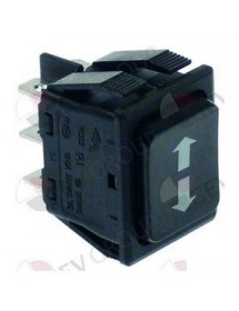 Momentary rocker switch mounting measurements 30x22mm black 2CO 230V 16A