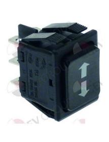 pulsador basculante medida de montaje 30x22mm negro 2CO 230V 16A con posición neutra