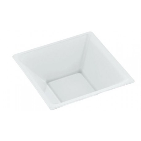 Square white bowl design 12x12x5'2cm (25 pcs)