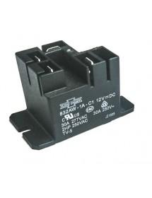 relais de puissance 2 p les 2no 25a 230v raccord cosse m le 6 3mm support bride alpeninox. Black Bedroom Furniture Sets. Home Design Ideas