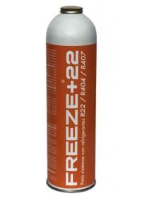 Gas Refrigerante Freeze+22 400 gr envase 750ml Para sistemas con R22, R404, R407. 100% orgánico