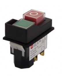 push switch KLD-28A mounting measurements 45x22mm green/red 2NO/A1 250V 16A I O
