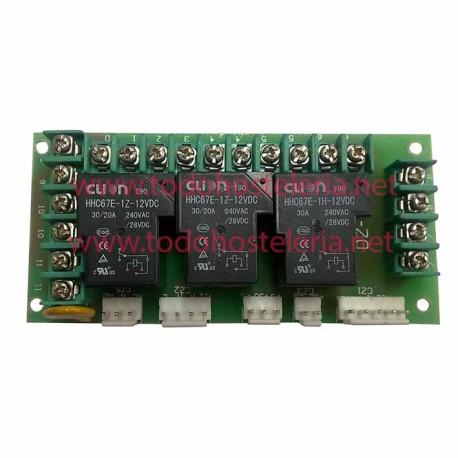 Placa de Relés DZ-JXB 3 Relés HHC6TE-1Z-12VDC Envasadora de Vacío