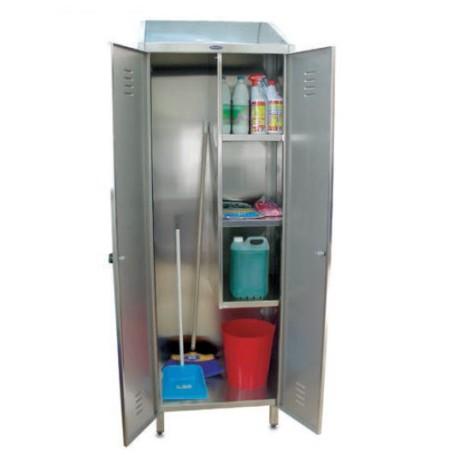 Armario de 2 puertas para productos de limpieza 2 puertas - Armario para escobas ...