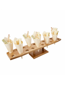 Stand for 20 cones Natural Bamboo