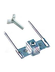 Skewer clamp single for skewer 12x12mm mounting pos. outer skewer 75mm skewer ø 4mm with screw