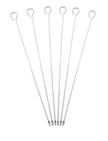 Pinchos cromados de 35 cm (Pack 6 uds)