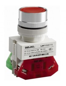 Emergency Switch Delixi LAY7 600V 10A Mounting size Ø22mm