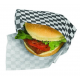 Greaseproof paper Black Square Print (1000 units)