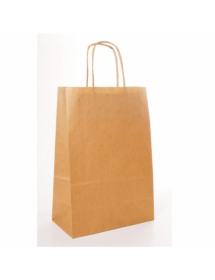 Kraft carrying bag with a handle (box 250 units)