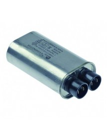 HV capacitor for microwave 1,15µF type CH85-21115 2100V 50/60Hz double connection male faston 4.8mm