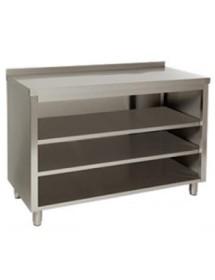Muebles estanterías con fondo 600 mm cerrado atrás.