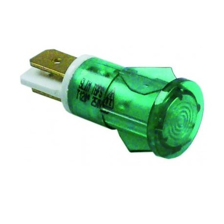 indicator light ø 12mm green 230V Qty 1 pcs