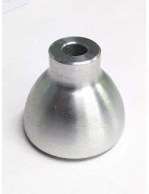 Pie de aparato Aluminio base de goma HB-320 altura 40mm eje 9mm