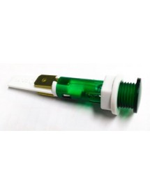 Indicator light ø 10mm green 240V connection male faston 6,3mm Qty 1 pcs Ozti 6251.00004.08