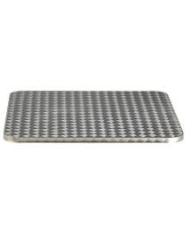 Tapa para mesa 80x80 acero inox