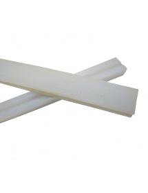 Almohadilla silicona 530x16x11mm Envasadora Vacío Ranurada por la mitad