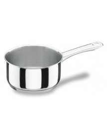 Stainless steel straight saucepan
