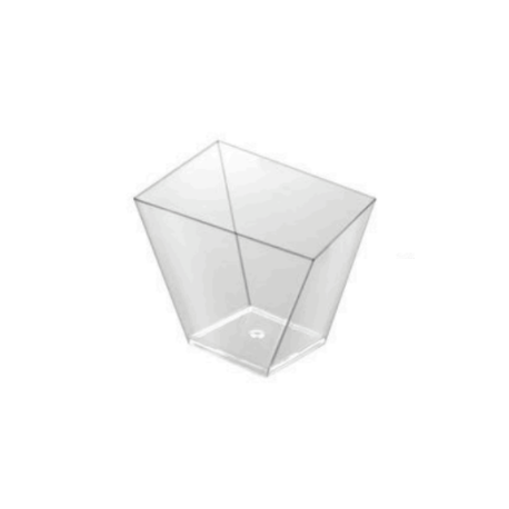 Asymmetric square bowl (Pack 25 units)