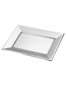 Rectangular silver tray (pack 2 units)