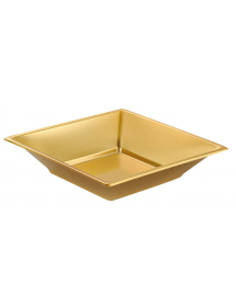 Plain plate square gold 17x17 cm (pack 25 units)