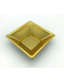 Square gold bowl 12x12x5,2 cm (pack of 4 units)