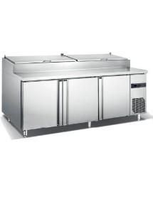 Mesa refrigerada GN para preparación de pizzas