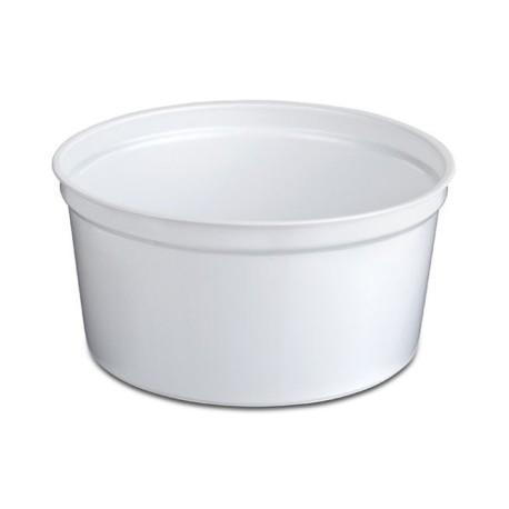 Terrine White Disposable round P.P. 450 CC (50 pcs)