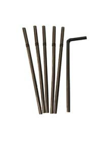 Caña Flexibles Negras 21 cm (Pack de 100 unidades)