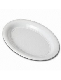 Extra large white Oval tray 39x28 cm (Pack of 12 units)