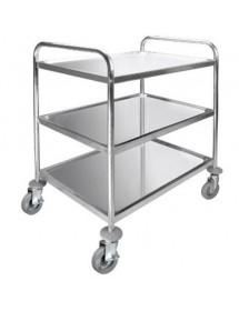 Serving trolley with 3 shelves